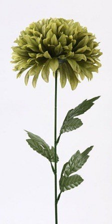 Chrysanthemum, artificial single flower, 16/40 cm green