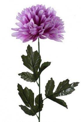 Chrysanthemum, artificial single flower, 16/40 cm lilac