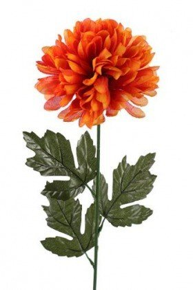 Chrysanthemum, artificial single flower, 16/40 cm orange