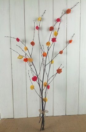 Colorful birch 40-50 cm bunch with flowers