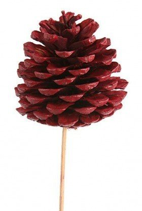 Cone on stick, 3pcs/pkg - red 7cm/50cm