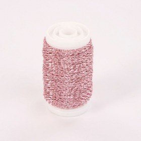 Copper floss wire on the spool 75g - light pink 70-80 meters