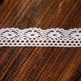 Cotton lace white, 20 mm length 200 cm