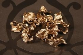 Curly gold swarfs, 30g, ca. 0,5 l