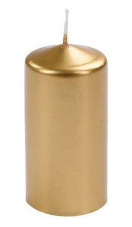 Cylinder candle 60/80 mm metalic gold