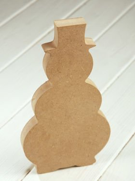DIY Christmas decoration. Snowman wooden standing 23 cm