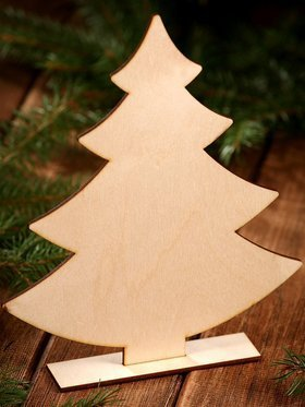 DIY Christmas decoration Standing 25 cm wooden Christmas tree
