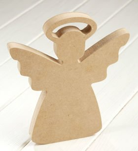 DIY Christmas decoration Wooden angel 23 cm