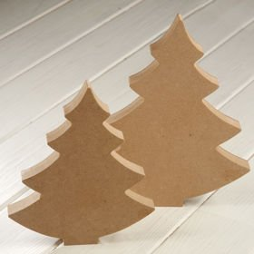 DIY Christmas decoration Wooden standing tree 20 cm