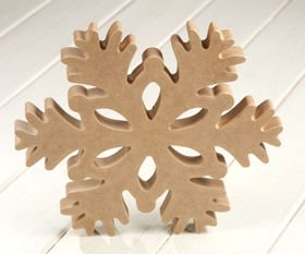 DIY Christmas decoration Wooden star DIY 25/25 cm