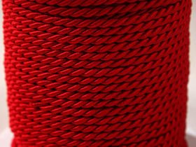 Decorative cord 5 m, red