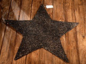 Decorative metal star brown-gold 60 cm