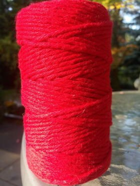 Decorative red cotton string 100g about 40m