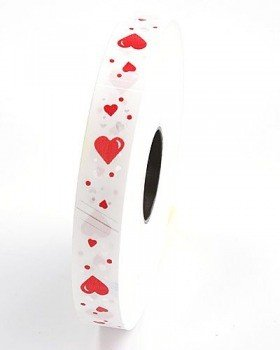 Decorative tape 20 mm, hearts, length 100 m