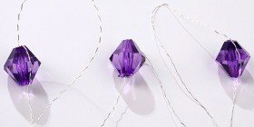 Diamond garland 200cm purple
