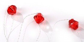 Diamond garland 200cm red