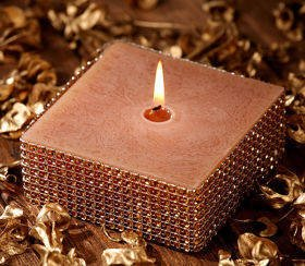 Diamond gold candle 100 mm