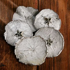 Dried apples in slices 6 pcs/pkg silver