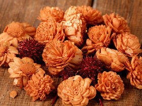Dried flowers - gold-plated 2-3 cm  30 pcs.