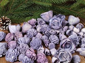 Dried salt flowers 30 pcs / pack - pastel purples