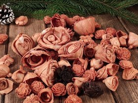 Dried salt flowers 45-50 pcs / pack - natural browns