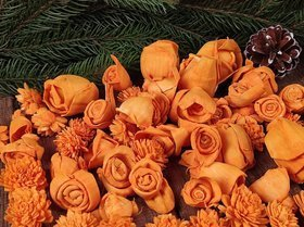 Dried salt flowers 45-50pcs / pack -intense oranges