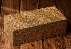 Dry cube, floral foam - 1 pc. , gold