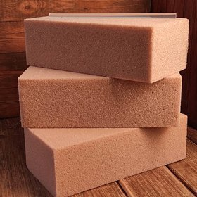 Dry cube, floristic sponge for artificial and dry plants, hot glue for free - pack of 3