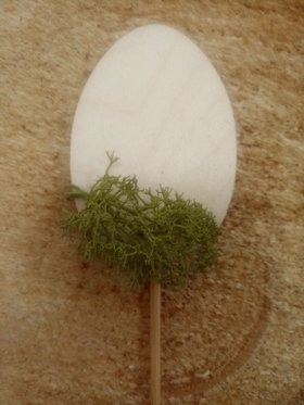 Easter egg with moss on a peak 3 pcs / pack