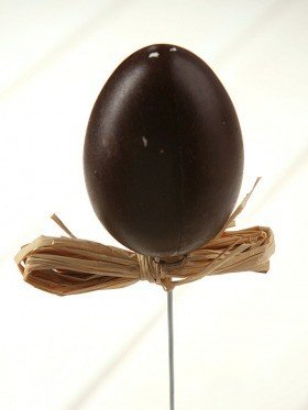 Egg on stick brown