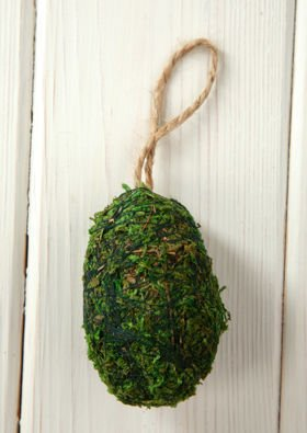 Eggs from moss 6 cm 3 pcs / box - Pendants