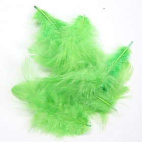 Feathers ca. 200 pcs - green apple