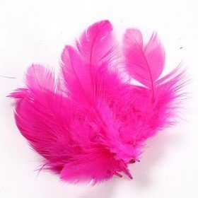 Feathers ca. 200 pcs - pink