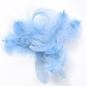 Feathers ca. 200 pcs - sky-blue