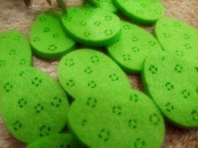 Felt eggs 3 cm / 12 pcs / pack
