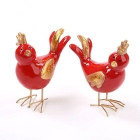 Figurine - red bird 14 cm