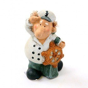Figurine - sailor with rudder 14 cm