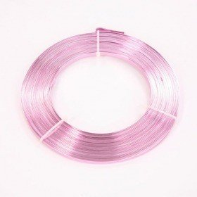 Flat aluminum ring 100 g - bright pink