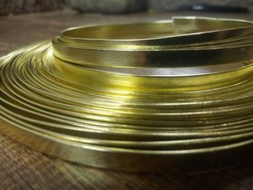 Flat aluminum ring 100 g - gold