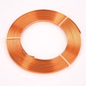 Flat aluminum ring 100 g - orange