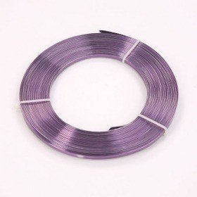 Flat aluminum ring 100 g - purple