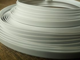 Flat aluminum ring 100 g - white