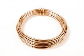 Floral Aluminium wire 5 m - copper