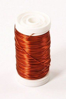 Floral copper wire on spool 75 g - orange