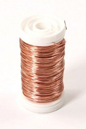 Floral copper wire on spool 75g - copper