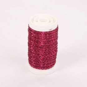 Floral copper wire, on spool, 75g - fuchsia