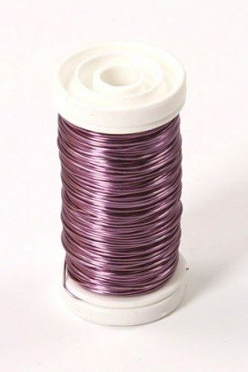 Floral copper wire on spool 75g - light pink