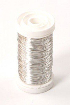 Floral copper wire on spool 75g - silver 70 - 80 m