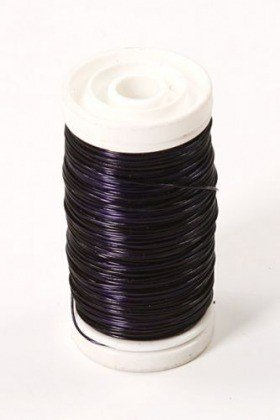 Floral copper wire on spool 75g - violet