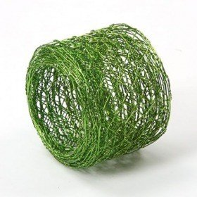 Floral floristic net, 5 cm wide, 2.5 m long - light green